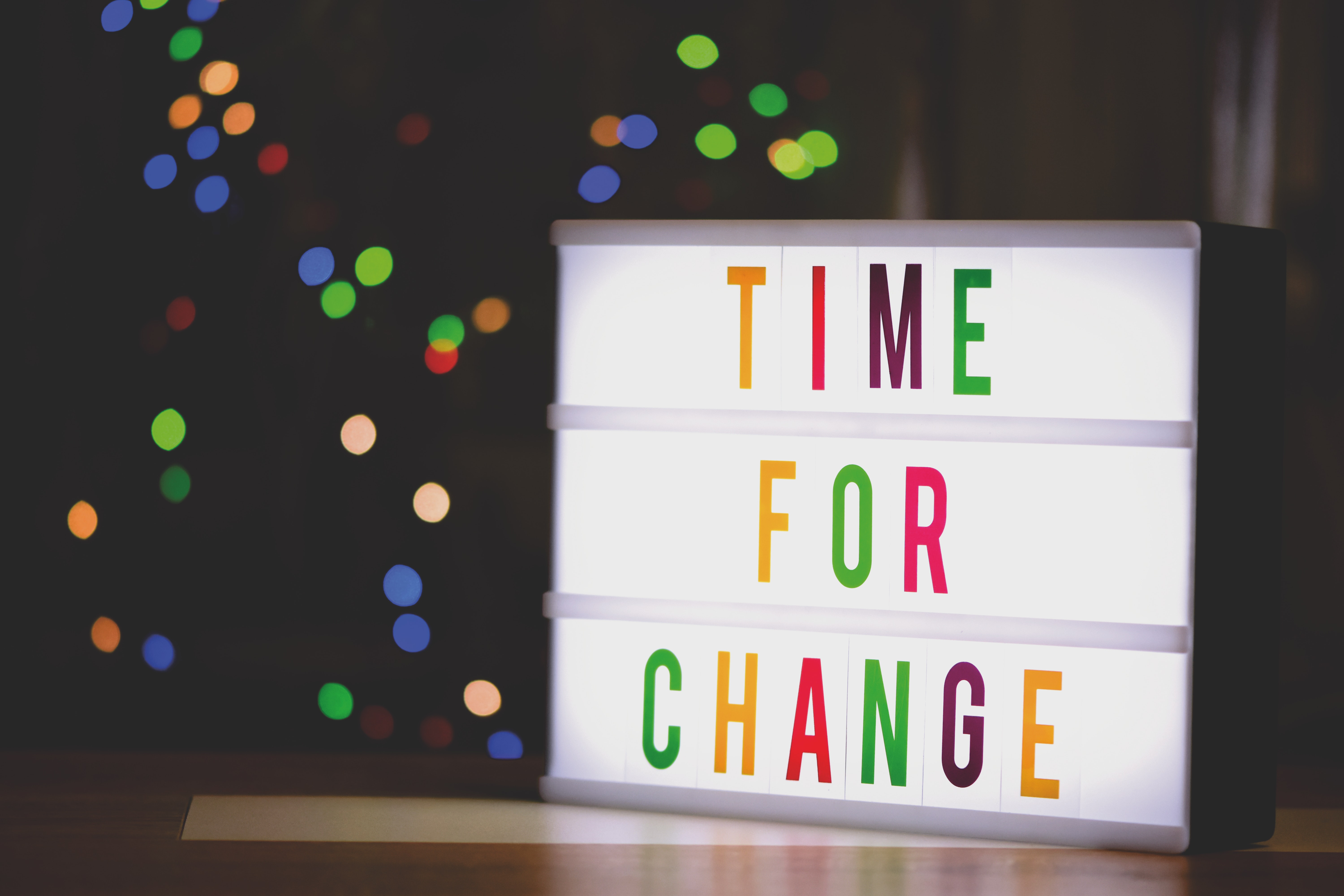 time for change sign with led light 2277784 - Blog